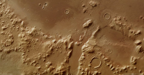 Phlegra Montes on Mars