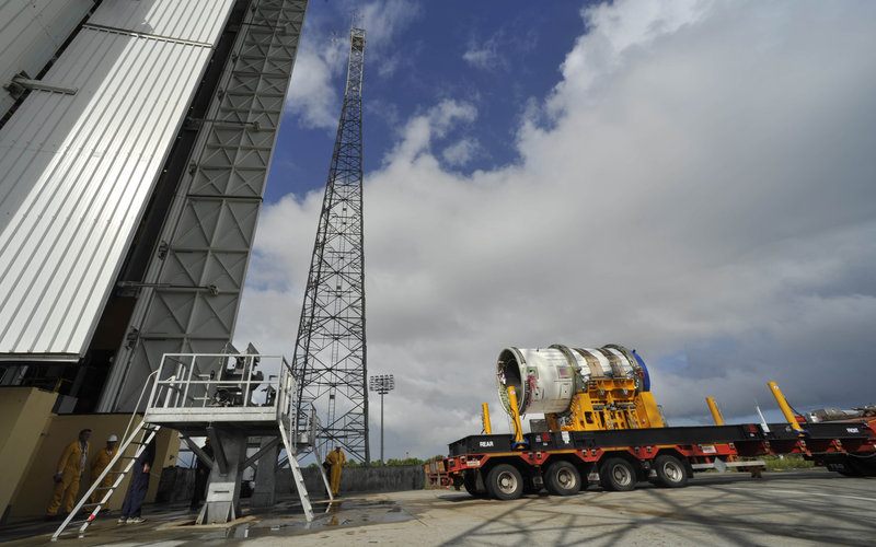 Vega's Zefiro-9 third stage transfer to launch pad