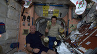 Kuipers and Kononenko onbard the ISS