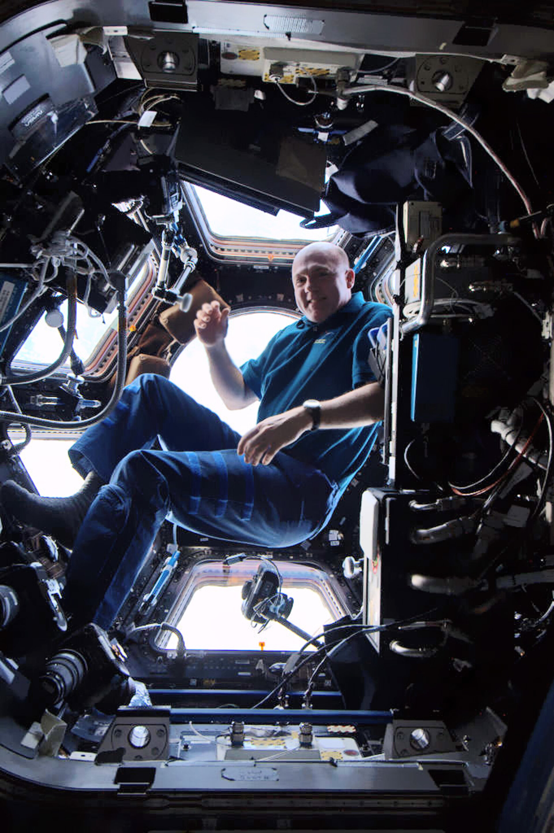 Andre Kuipers in the cupola