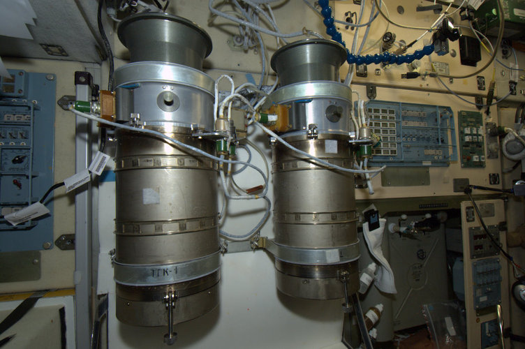Emergency oxygen tanks, International Space Station