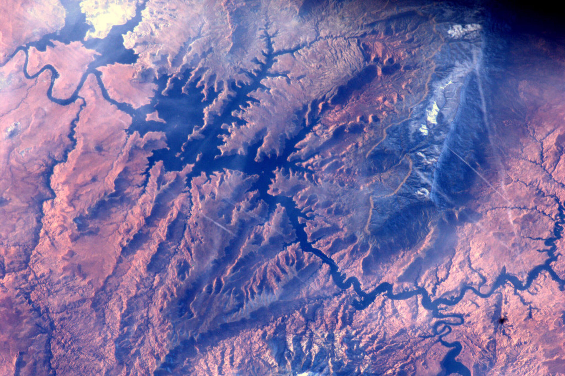 Lake Powell and the Colorado river, seen from the ISS
