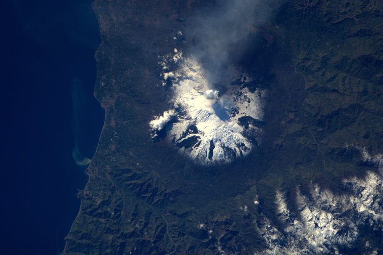 Mount Etna, as seen from the ISS