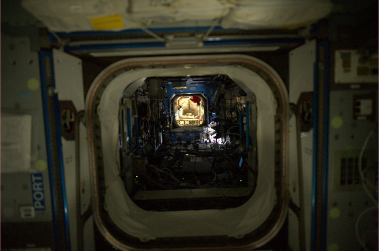 Night time onboard the ISS