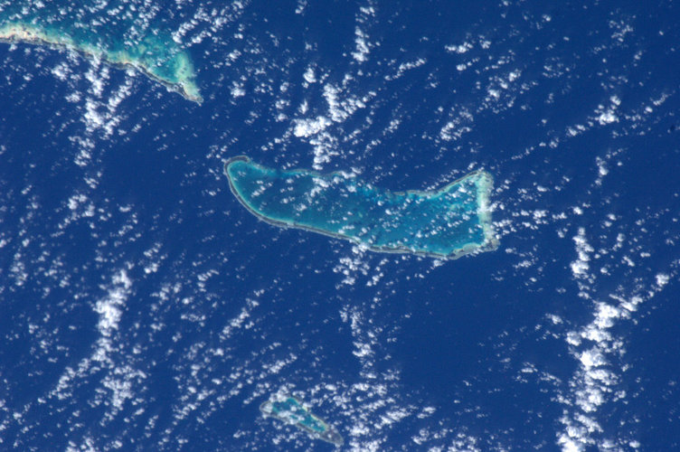 Pacific Atoll, as seen from the ISS