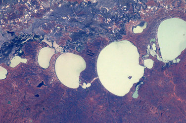 Salt lakes, Australia, as seen from the ISS