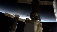 Soyuz and Progress docked with the ISS