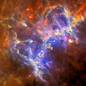 Stunning new Herschel and XMM-Newton image of the Eagle Nebula