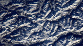 The Alps, as seen from the ISS