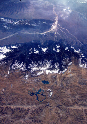 The Himalayas and the Tibetan Plateau, as seen from the ISS