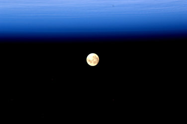 The moon, as seen by Andre Kuipers onboard the ISS