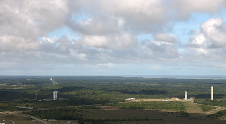 Three launch pads at Europe's Spaceport
