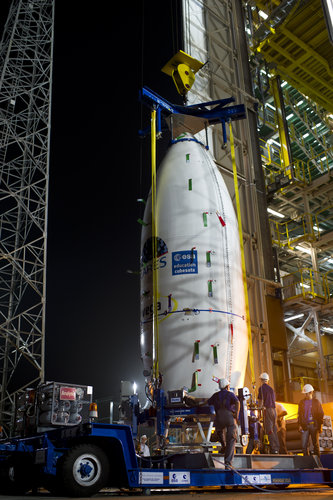 Upper composite arrives at launch pad