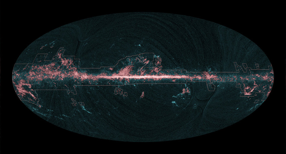 All-sky image of molecular gas seen by Planck and previous surveys