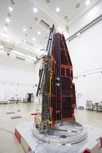 Swarm satellites in IABG cleanroom