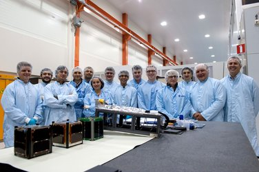 Teams during preparations of the first three CubeSats