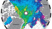Arctic sea-ice thickness 2011