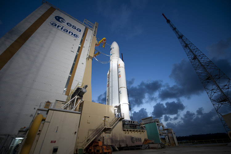 Ariane 5 flight VA205 and ATV Edoardo Amaldi ready for launch
