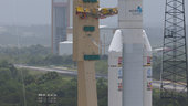 Ariane 5 and ATV Edoardo Amaldi ready for roll to the launch pad