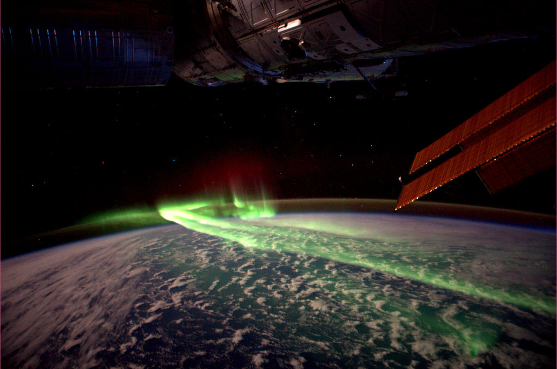 Aurora Australis, as seen from the ISS