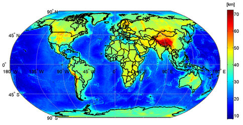 Global Moho from GOCE