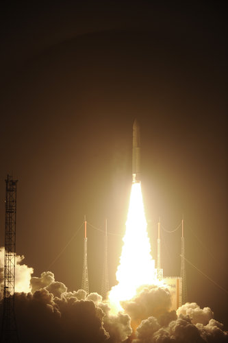 Liftoff of Ariane 5 VA205 with ATV-3