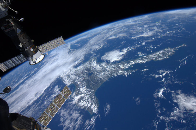 North Island, New Zealand, as seen from the ISS