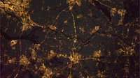 Southern Netherlands, as seen from the ISS