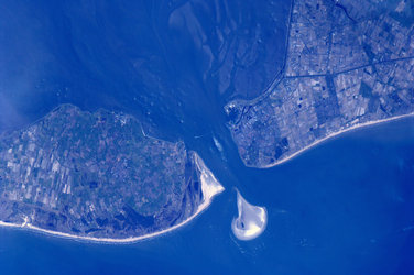 Texel and Northern Holland, as seen from the ISS