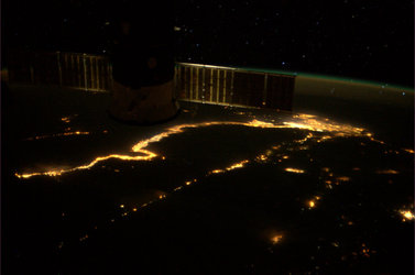 The Nile, as seen from the ISS