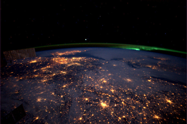 Western Europe, as seen from the ISS