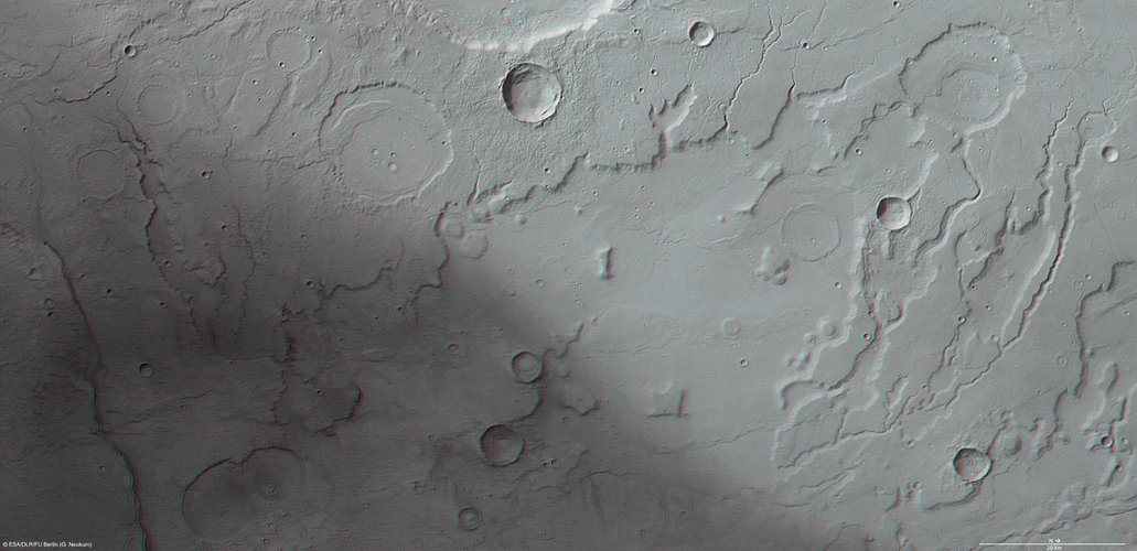 3D view of Acidalia Planitia and Tempe Terra