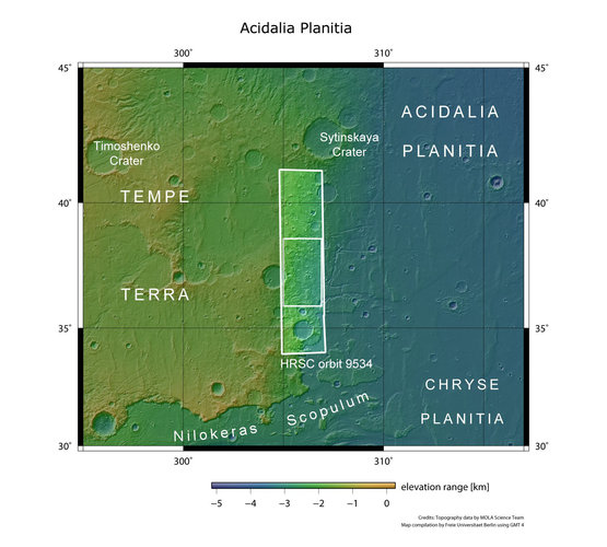 Acidalia Planitia in context