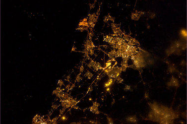 Amsterdam and surroundings as seen from the ISS