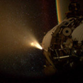 ATV-3 and ISS thrusters firing in unison