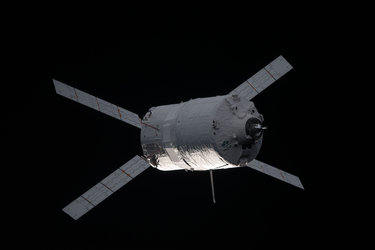 ATV-3 approaches the Space Station