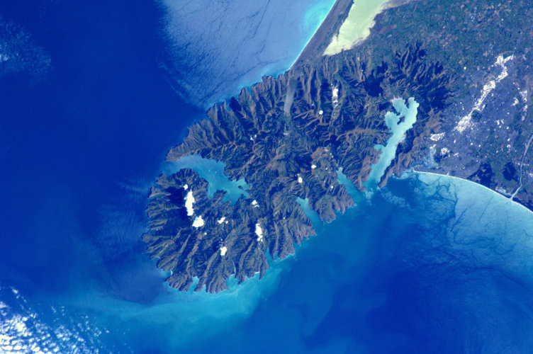 Christchurch, New Zealand, as seen from the ISS