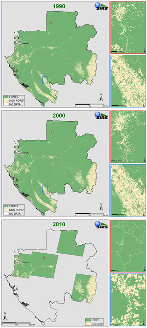 Gabon forest cover