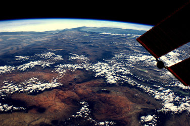 Monument Valley, Las Vegas and the Colorado river, seen from the ISS