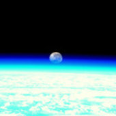 Moonset from the ISS