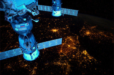 Night lights across Europe