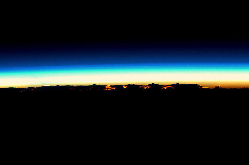 Nightfall from space