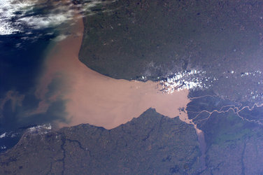 Rio de la Plata, as seen from the ISS