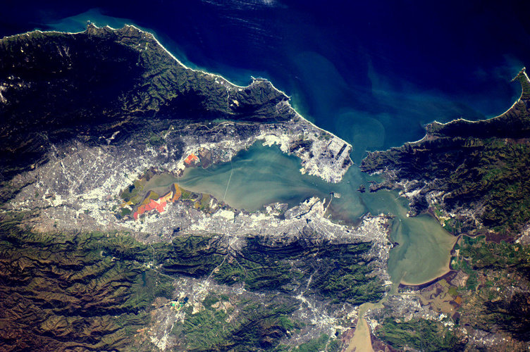 San Francisco, as seen from the ISS