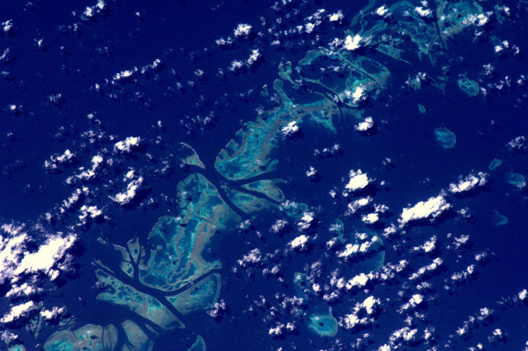 The Great Barrier Reef as seen from space