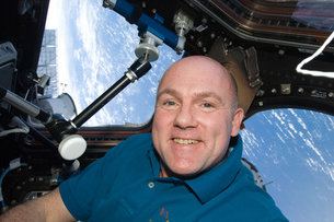 ESA astronaut André Kuipers in Cupola