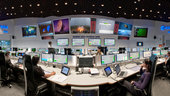 Panorama of the Main Control Room at ESOC, ESA's European Space Operations Centre, Darmstadt, Germany 2012