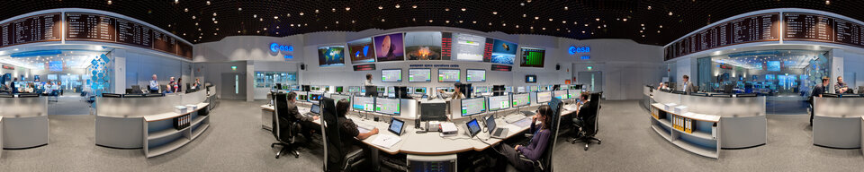 ESA's Main Control Room in Darmstadt