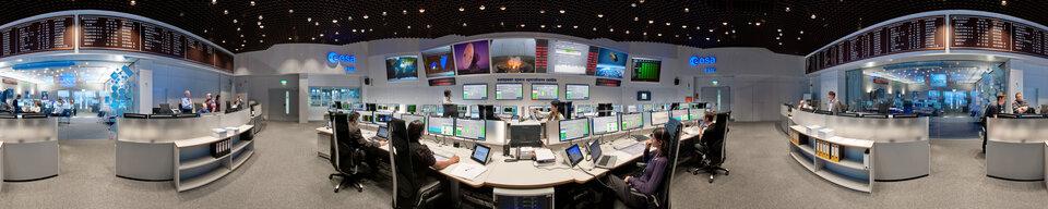 ESA's Main Control Room in Darmstadt
