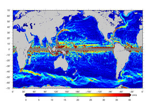 Satellites stay current on ocean currents observing the earth satellites stay current on ocean currents surface current speed gumiabroncs Images